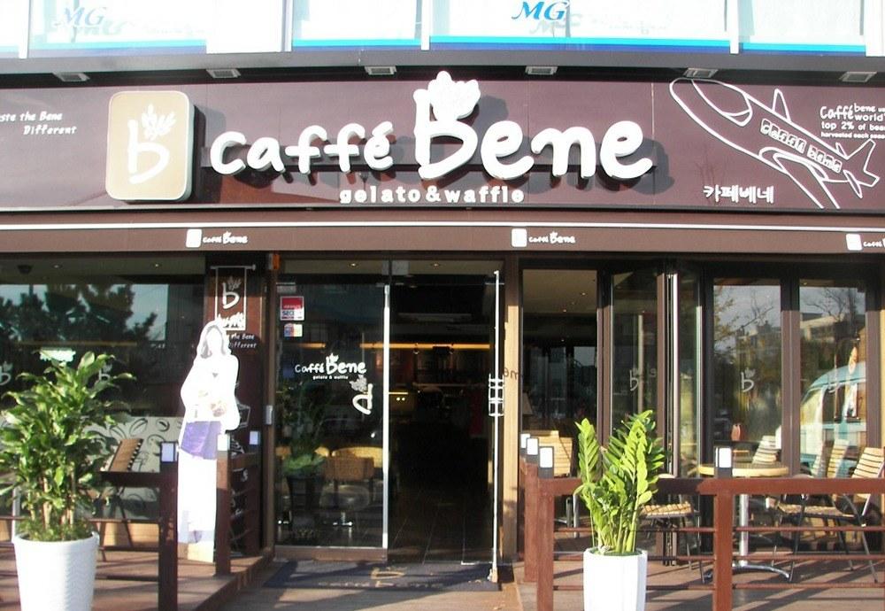 Bảng hiệu quán cafe Bene