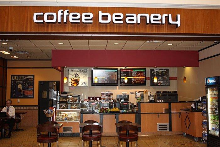 Bảng hiệu quán cafe Coffee Beanery