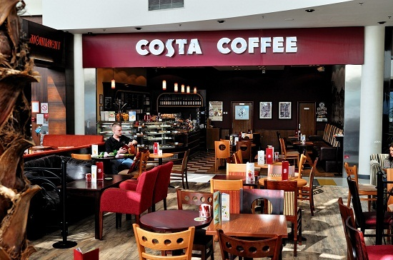 Bảng hiệu quán cafe Costa Coffee