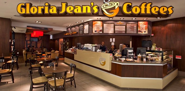 Bảng hiệu quán cafe Gloria Jeans Coffee