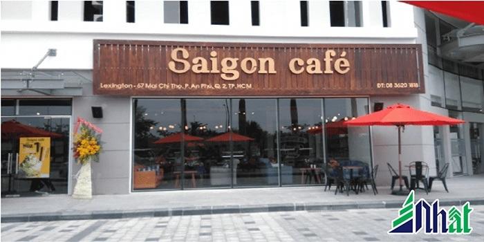 Bảng hiệu quán cafe Sài Gòn Cafe