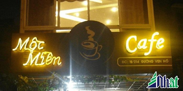 Biển hiệu quán cafe Mộc Miên