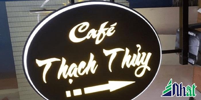 Biển hiệu quán cafe Thạch Thủy