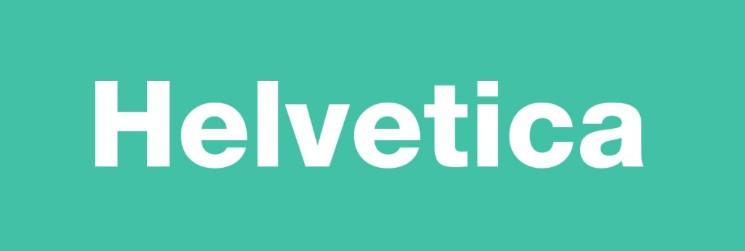 Font Helvetica