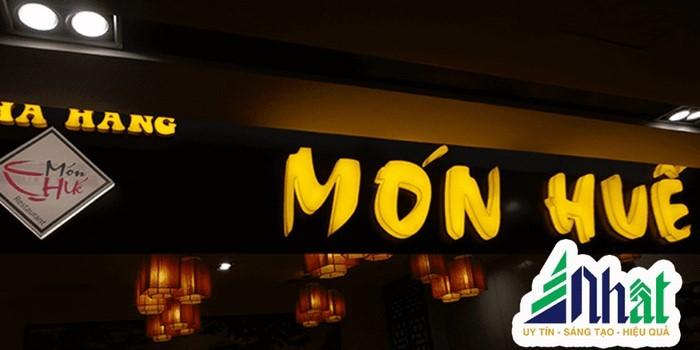 Mẫu bảng hiệu nhà hàng