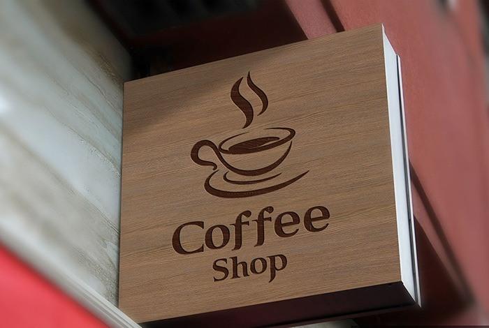Mẫu bảng hiệu quan cafe Coffee Shop