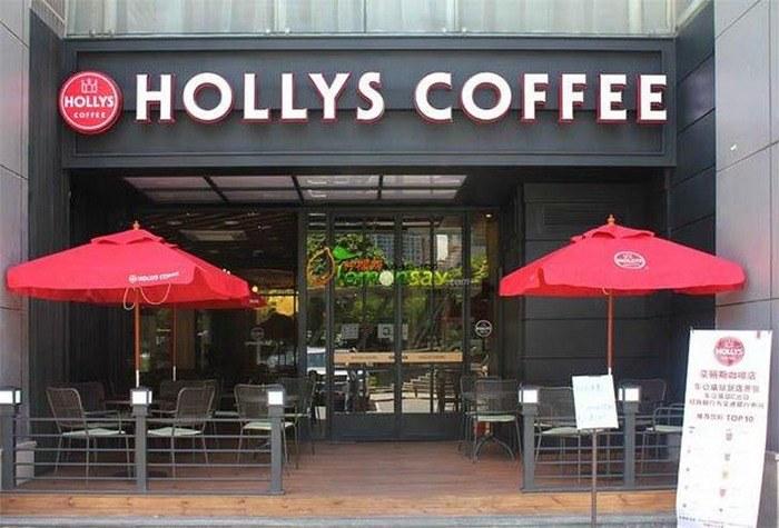 Mẫu Bảng hiệu quán cafe hollys Coffee