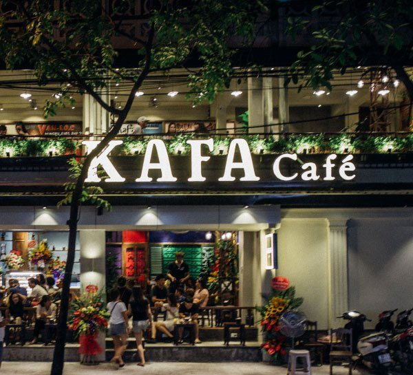 Mẫu bảng hiệu quán cafe Kaka Cafe