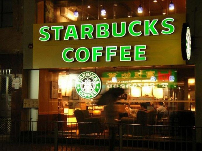 Mẫu bảng hiệu quán cafe Starbucks Coffee