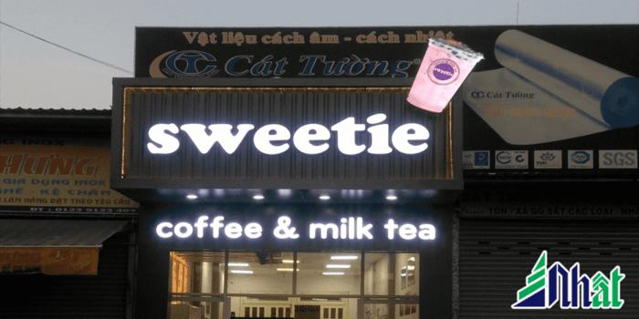 Mẫu bảng hiệu quán trà sửa đẹp
