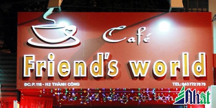 Mẫu biển hiệu quán cafe Friend World