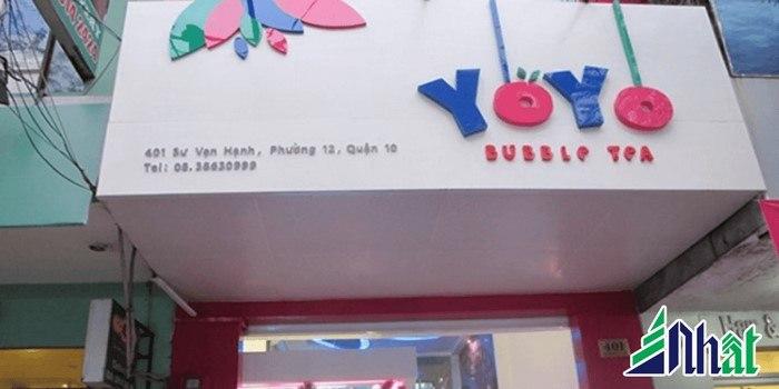 Bảng hiệu quán trà sữa chữ nổi