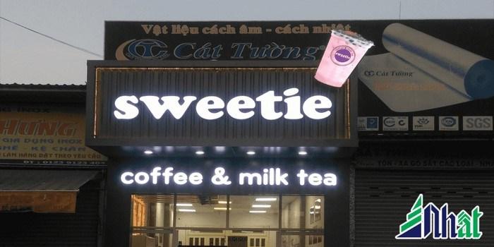 Bảng hiệu trà sữa đèn led đẹp