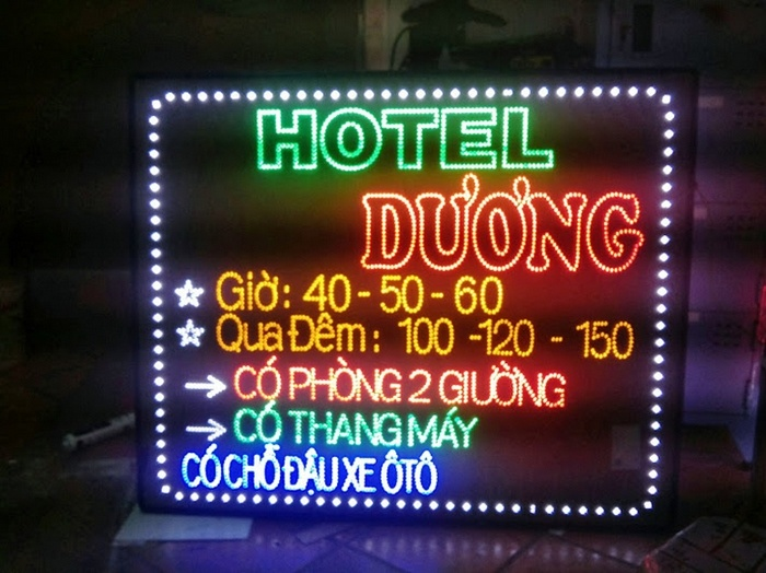 cách làm bảng hiệu handmade đẹp Bảng hiệu khách sạn đèn led đẹp