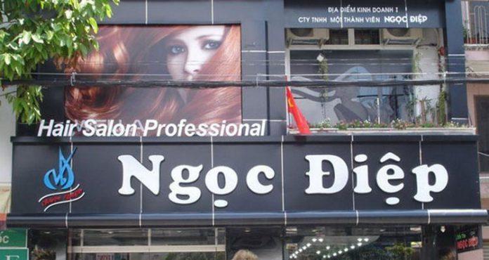 Bảng hiệu Hair Salon Professional Ngọc Điệp