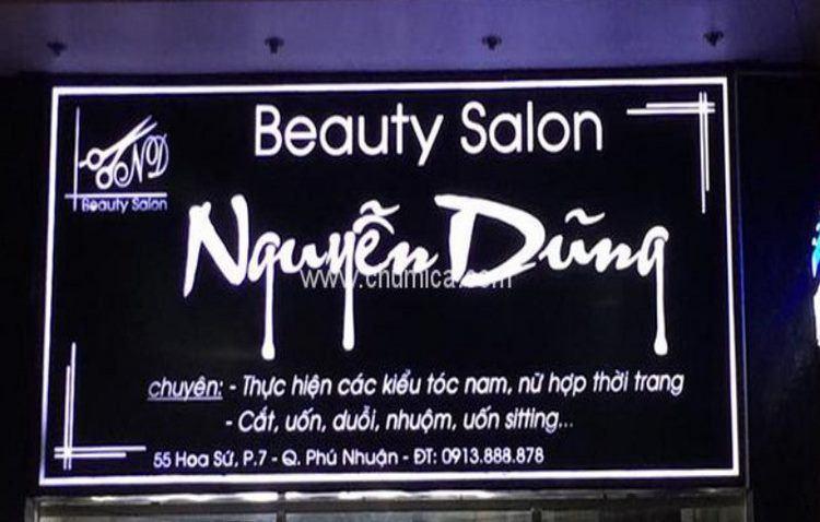 Biển hiệu Beauty Salon Nguyên Dũng