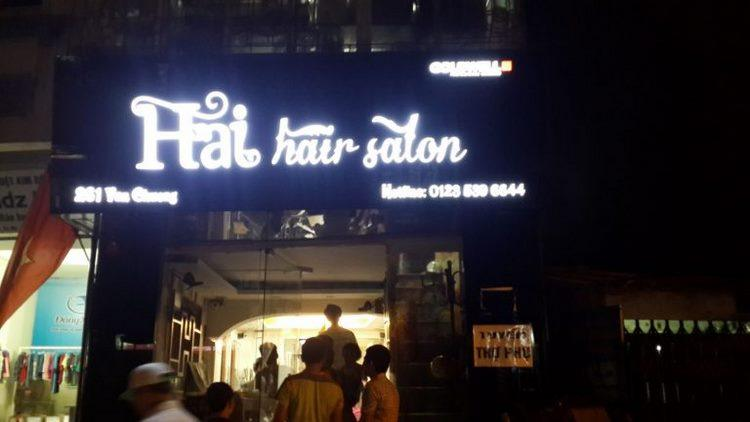 Biển hiệu Hải Hair Salon Tóc