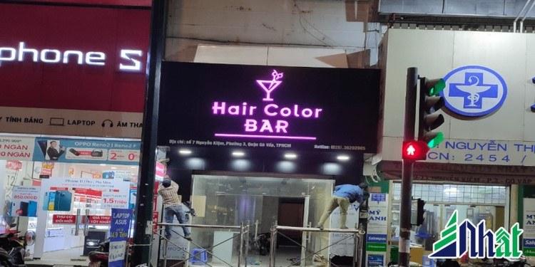 Mẫu bảng hiệu Hair Color BAR