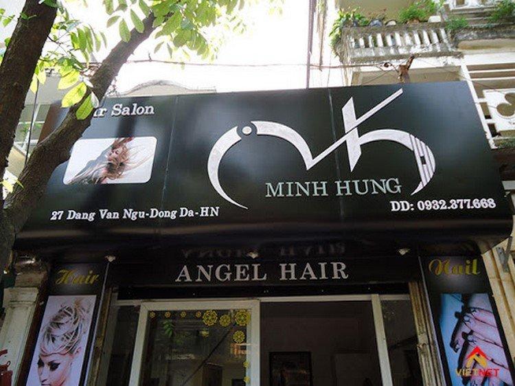 Mẫu bảng hiệu salon tóc Minh Hùng
