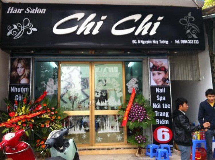 Mẫu bảng hiệu tóc Hair Salon Chi Chi