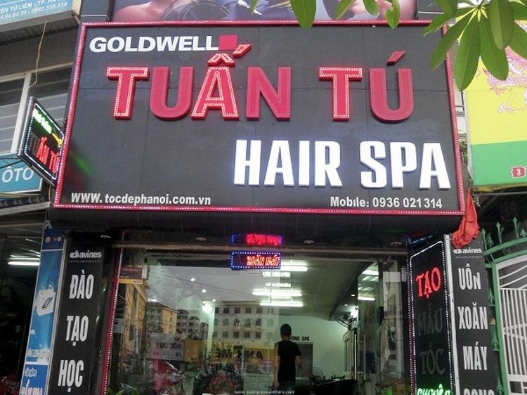 Mẫu biển hiệu Hair Spa Tuấn Tú