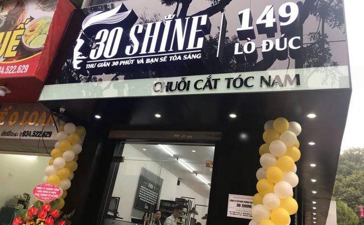Mẫu biển quảng cáo Salon Tóc 30 Shine