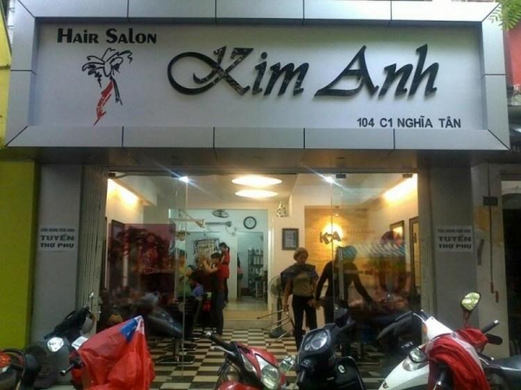 Bảng hiệu Hair Salon Kim Anh