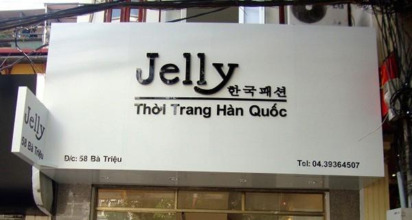 Bảng hiệu cửa hàng thời trang biển hiệu cửa hàng