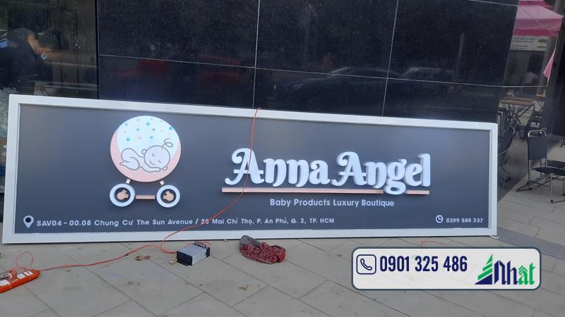 bảng hiệu shop trẻ em Anna Angel