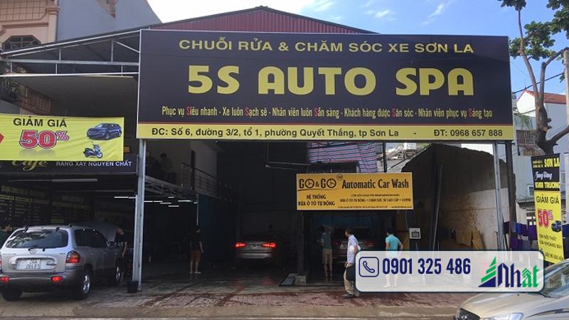 bảng hiệu rửa xe